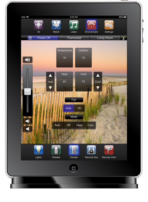 Control the temperature of your Home with Lutron Climate Control Smartphone App