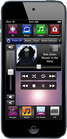 Control Home Audio with Savant Whole Home Audio Smartphone App